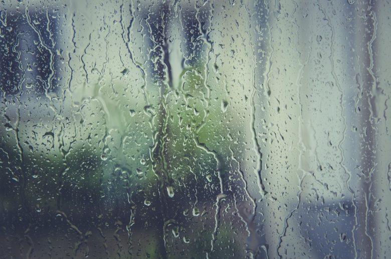 gouttes de pluie sur une vitre
