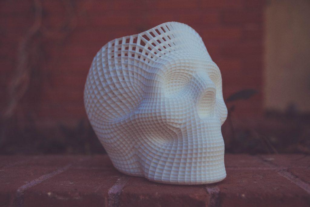 Un crâne imprimé en 3D